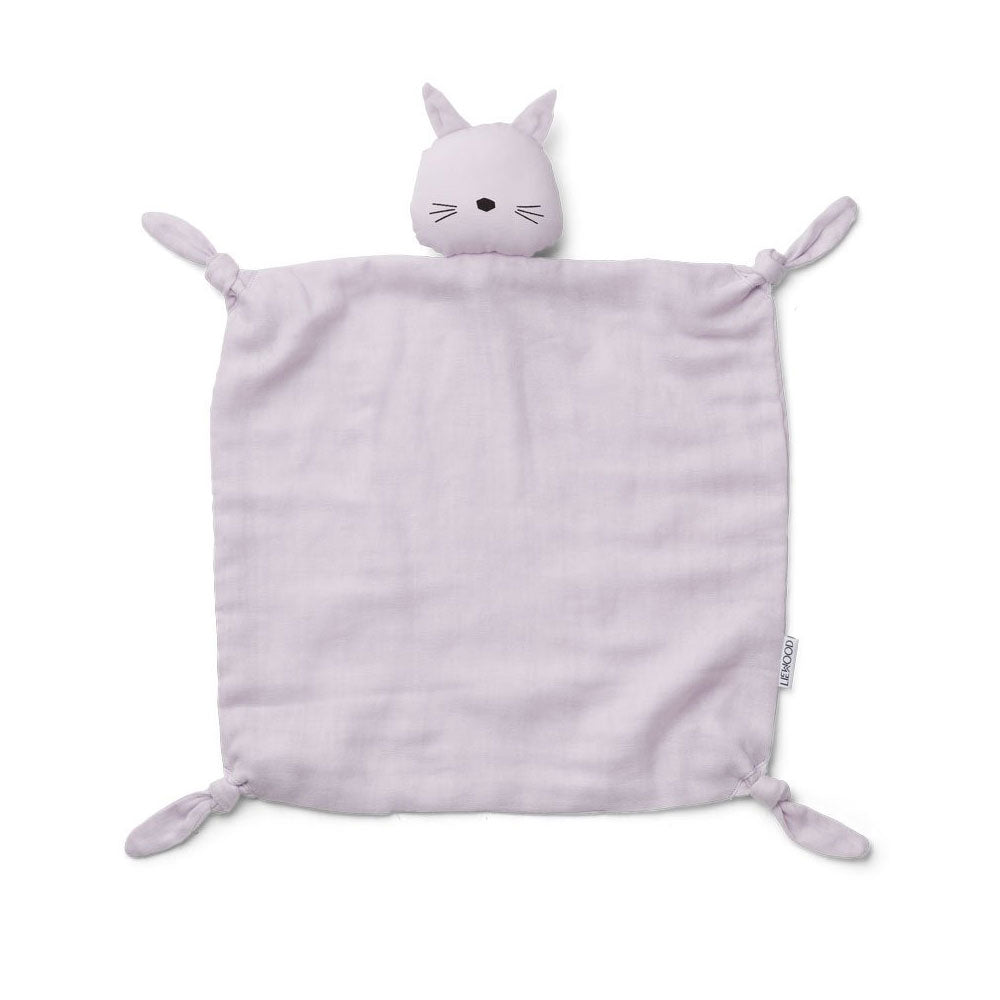 Liewood - Agnete Kuscheltuch Cat light lavender