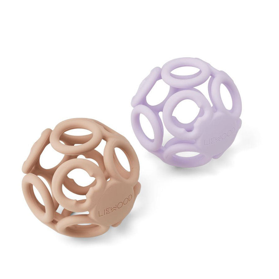 Liewood - Jasmin Beißring Ball Light lavender rose mix