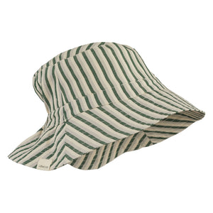 Liewood - Sander Bucket Hat Sonnenhut Stripe Garden green/sandy/dove blue