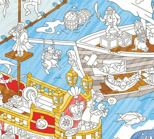 OMY - Giant Coloring Poster Piraten