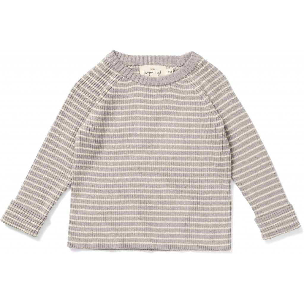 konges slojd - Meo Knit Blouse Pullover Powder Blue/Off White