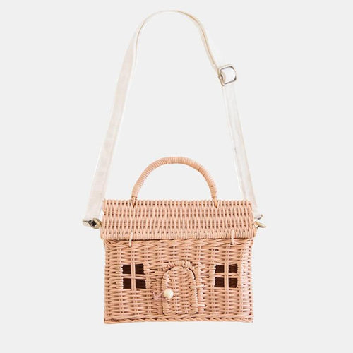 Olli Ella - Rattan Casa Bag Rose