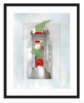 Floral Hallway Mixed Media Collage - Kevin Francis Design