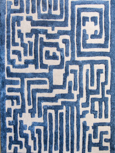 Theseus Hand-Tufted Maze Area Rug - Kevin Francis Design