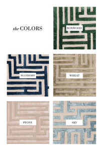 Lucca Hand-Tufted Maze Area Rug - Kevin Francis Design