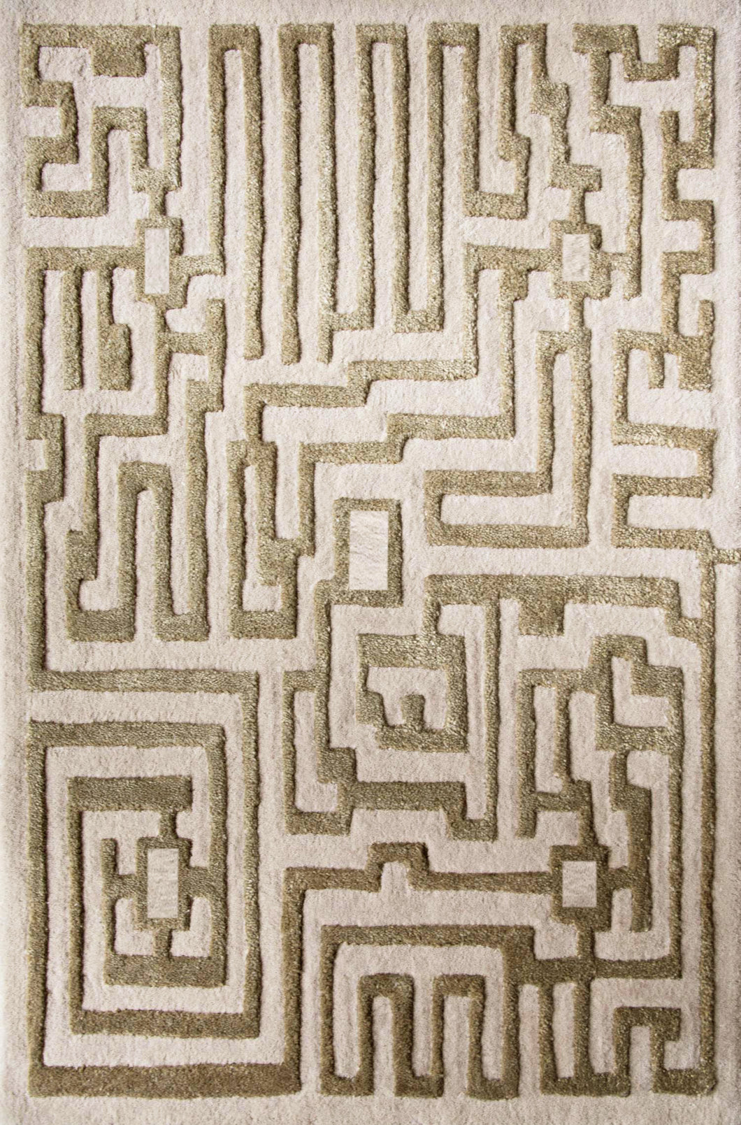 Theseus Hand-Tufted Maze Area Rug