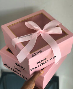 Pink Transparent top box