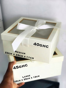 Cream Transparent top box