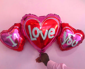 3 in 1 I love you balloon (horizontal)