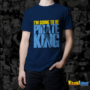 Koszulka z nadrukiem - I'm going to be pirate king - One Piece