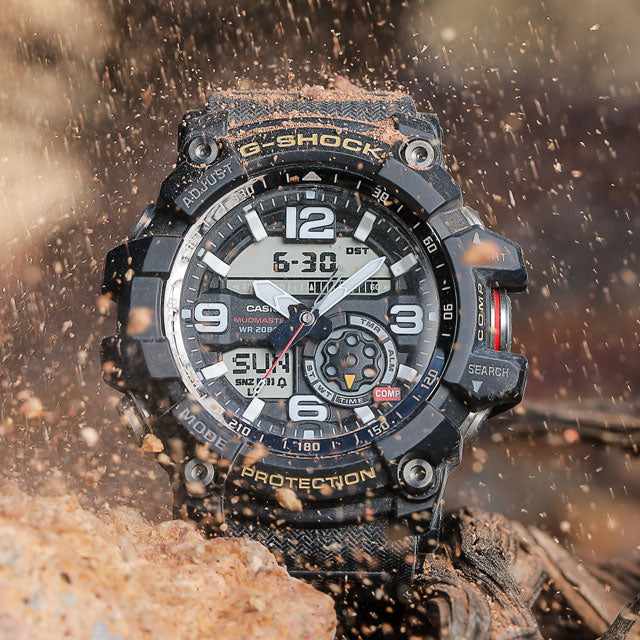 gshock mudmaster dirt flying around