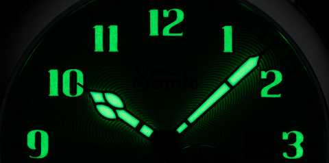 Szanto Big Aviator lume on hands and indices