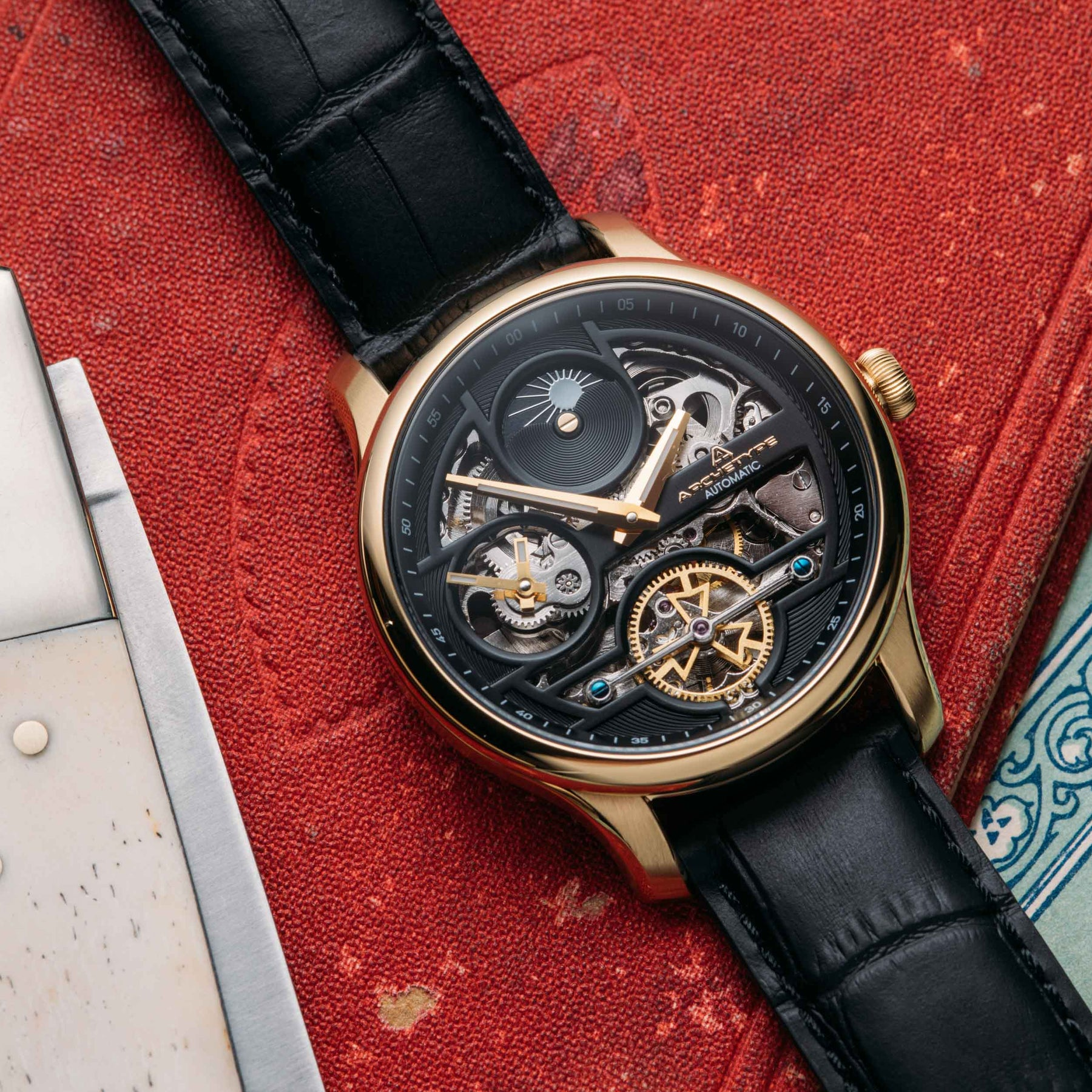 archetype archer automatic in gold
