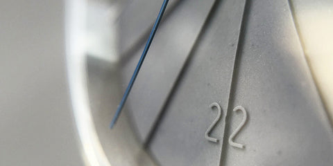 Close-up of details in 22 Design's concrete dial