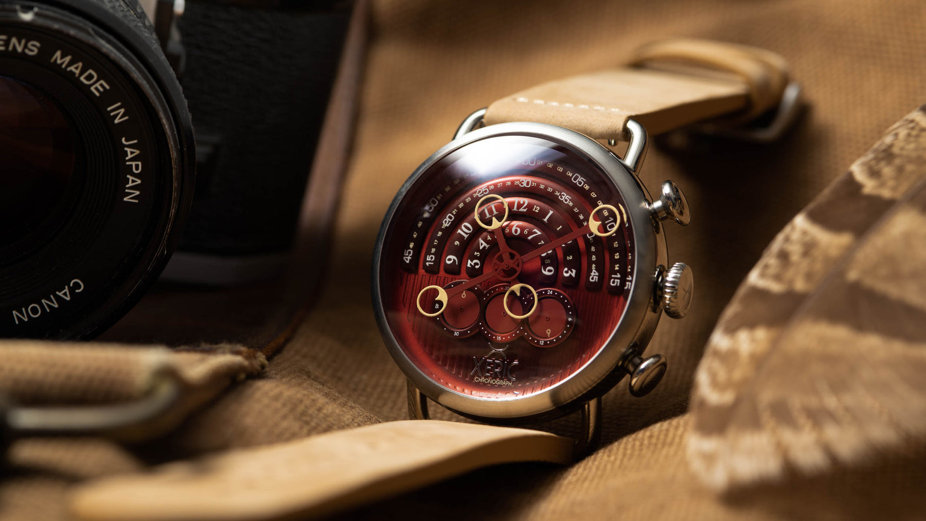 xeric halograph chrono in oxblood