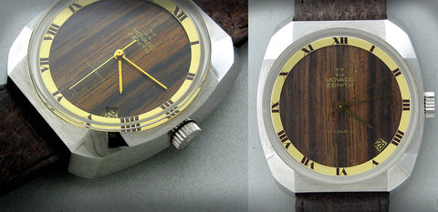 Vintage Movado Zenith Automatic Wood Dial