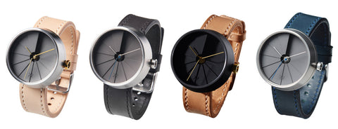 22 Design Concrete watch in 4 colors: neutral, gray, black and tan, and slate blue