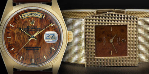 Vintage Rolex President Cellini Watches Wood Dials