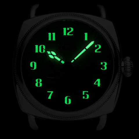 Szanto Officer's Coin Cushion Automatic Silver Black Glows in the Dark