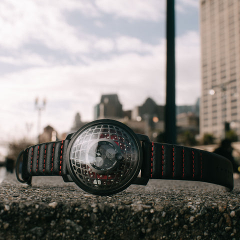 Xeric Trappist-1 Moonphase Gunmetal Red Watch