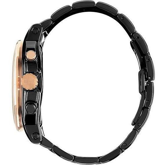Vestal DEV010 De Novo Polished Black Rose Gold angled shot picture