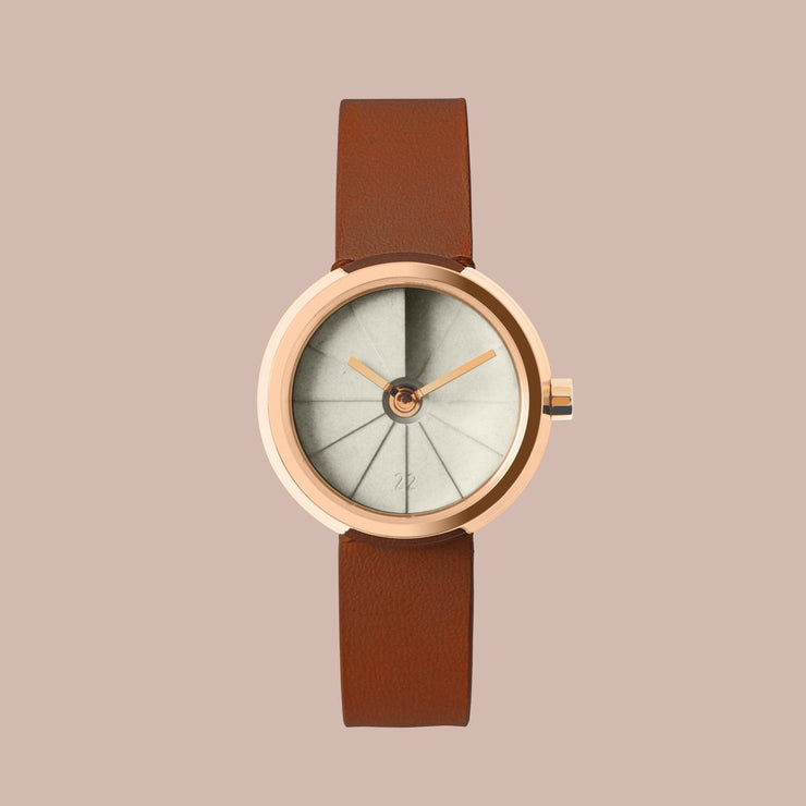 22 Design 4th Dimension 30mm Teatime Concrete Watch