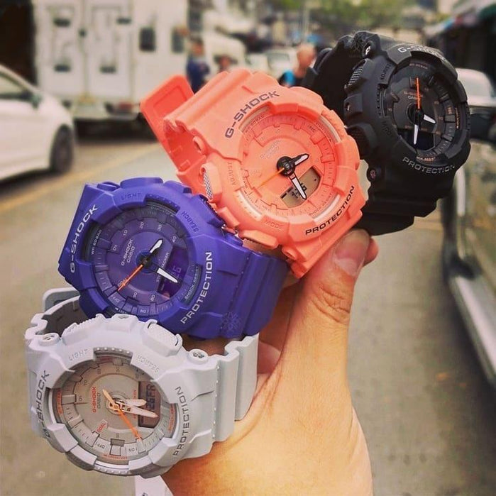 G-Shock GMAS130VC S-Series Step Tracker Coral angled shot picture