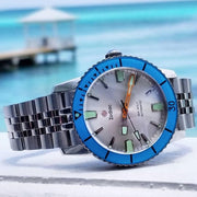 Zodiac ZO9274 Super Sea Wolf 53 Compression Automatic Silver Blue