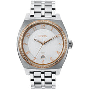 Nixon Monopoly Silver/Light Gold Crystal