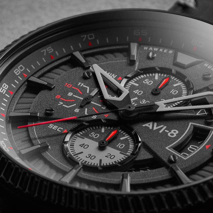 AVI-8 Hawker Hunter Avon Chrono Stealth Black angled shot picture