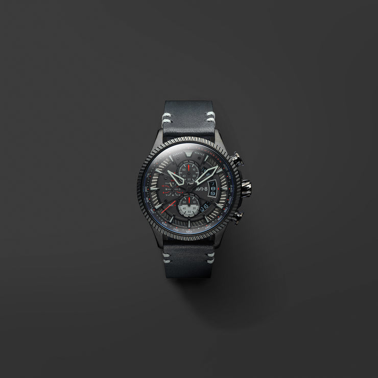 AVI-8 Hawker Hunter Avon Chrono Stealth Black
