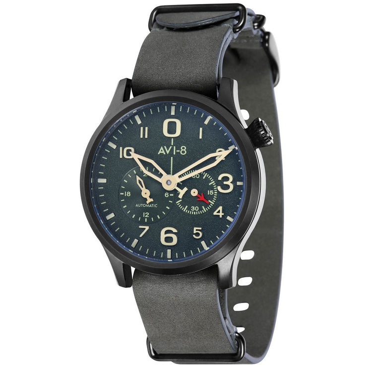 AVI-8 Flyboy Multi-Function Automatic Green Black