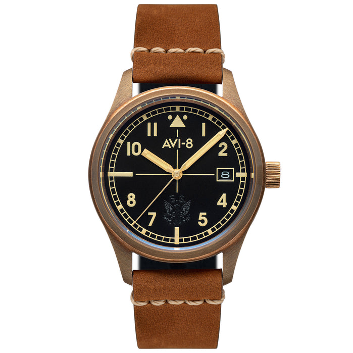 AVI-8 Flyboy Eagle Squadron Automatic Bronze Tan angled shot picture