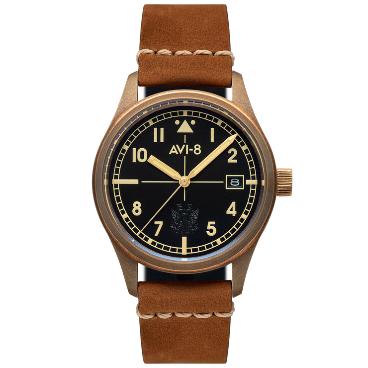AVI-8 Flyboy Eagle Squadron Automatic Bronze Tan