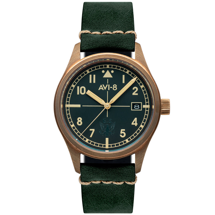 AVI-8 Flyboy Eagle Squadron Automatic Bronze Green angled shot picture