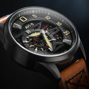 AVI-8 Hawker Harrier II Ace of Spades Automatic Black Tan
