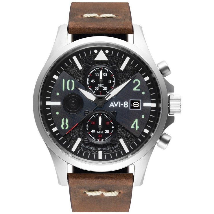 AVI-8 Hawker Hunter Bulman Edition Chrono Black Brown