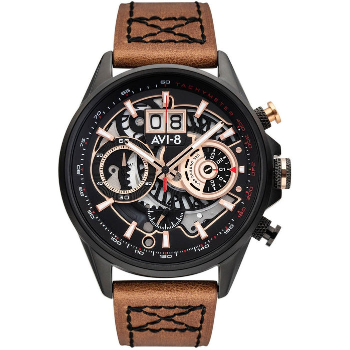 AVI-8 Hawker Harrier II Matador Chronograph Black Brown angled shot picture
