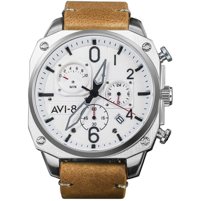 AVI-8 Hawker Hunter AV-4052-01 Chronograph Tan angled shot picture