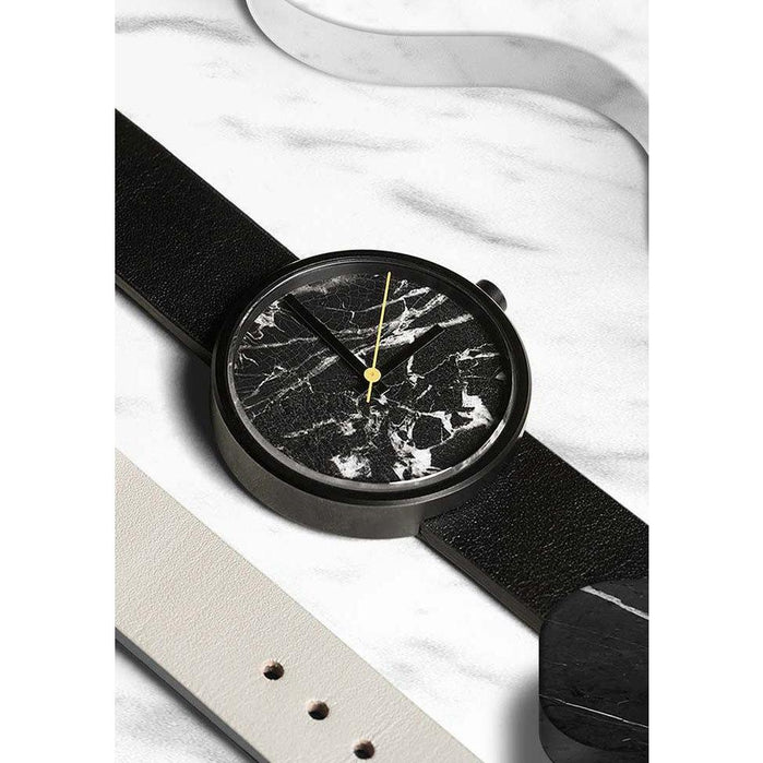 AARK Collective Marble Nero Black Italian Leather angled shot picture