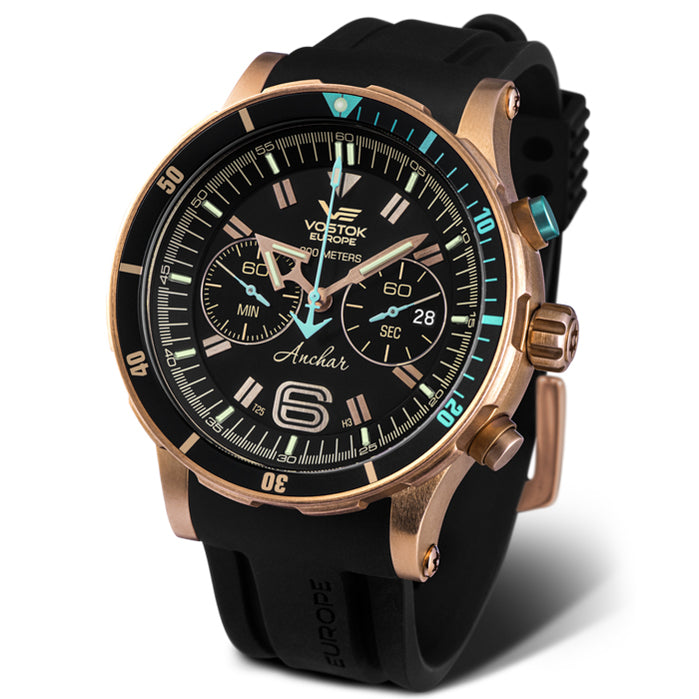 Vostok-Europe Anchar Dive Chrono Bronze angled shot picture