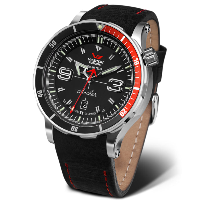 Vostok-Europe Anchar Dive Automatic Black Red