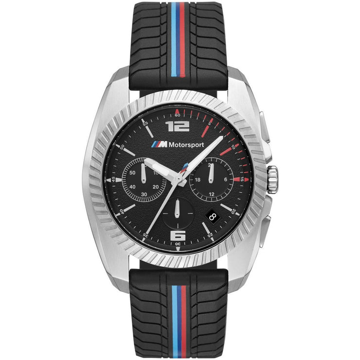 BMW 2000 M Motorsport Chronograph Silver Black Silicone
