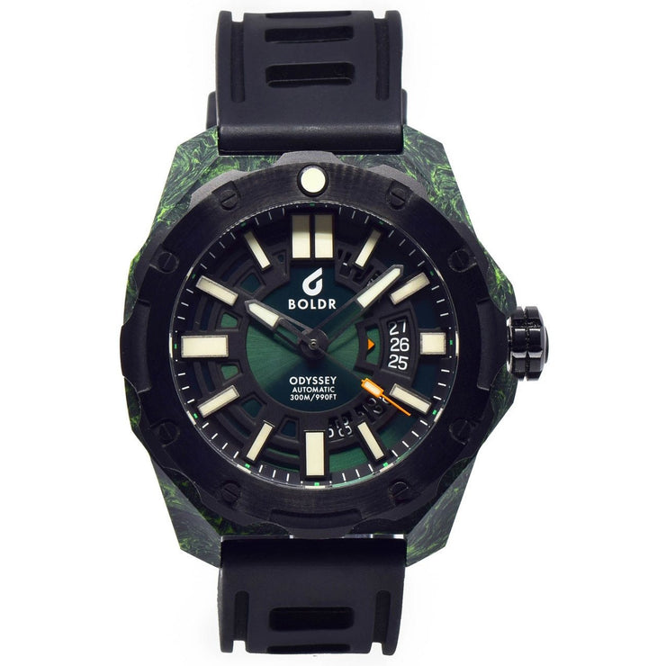 BOLDR Odyssey Carbon Swiss Automatic Green Limited Edition