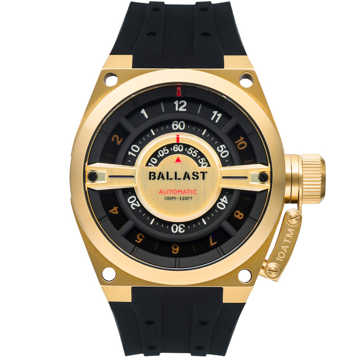 Ballast Valiant Gauge Automatic Gold Black angled shot picture