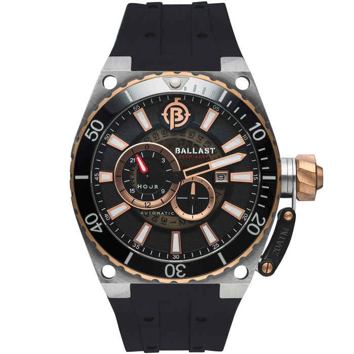 Ballast Valiant Regulator Automatic Rose Gold Black angled shot picture