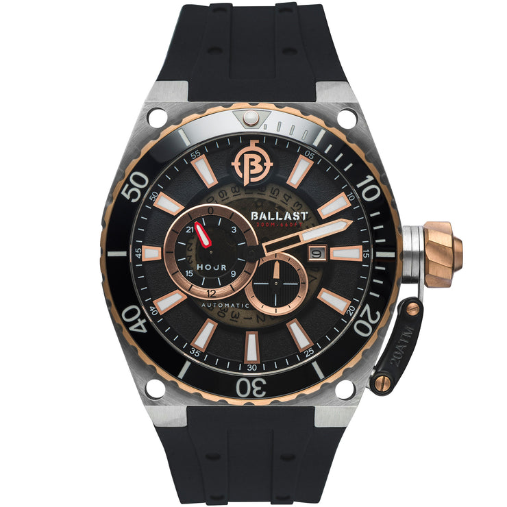 Ballast Valiant Regulator Automatic Rose Gold Black