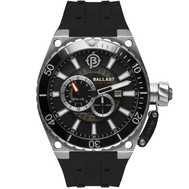 Ballast Valiant Regulator Automatic Silver Black