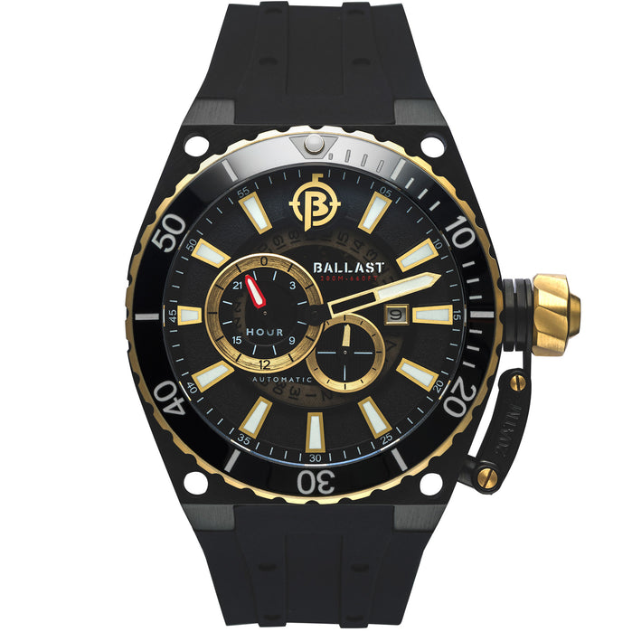 Ballast Valiant Regulator Automatic Black Gold angled shot picture