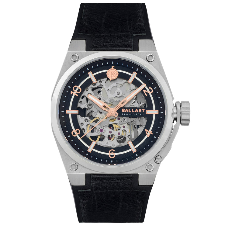 Ballast Valiant Officer Automatic Silver Black